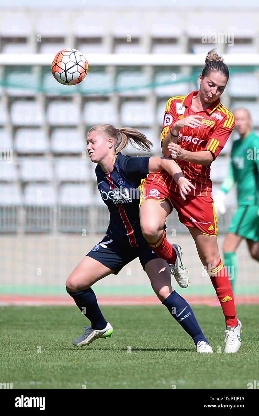 Ann Katrin BERGER - 30.08.2015 - PSG/Rodez - 1ere journee D1 Feminine.Photo : Nolwenn Le Gouic/Icon Sport - Stock Image