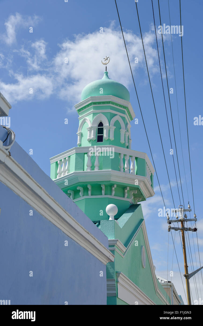 Boorhaanol Mosque, Longmarket Street, Cape Malay Bo-Kaap, Cape Town, Western Cape Province, Republic of South Africa - Stock Image