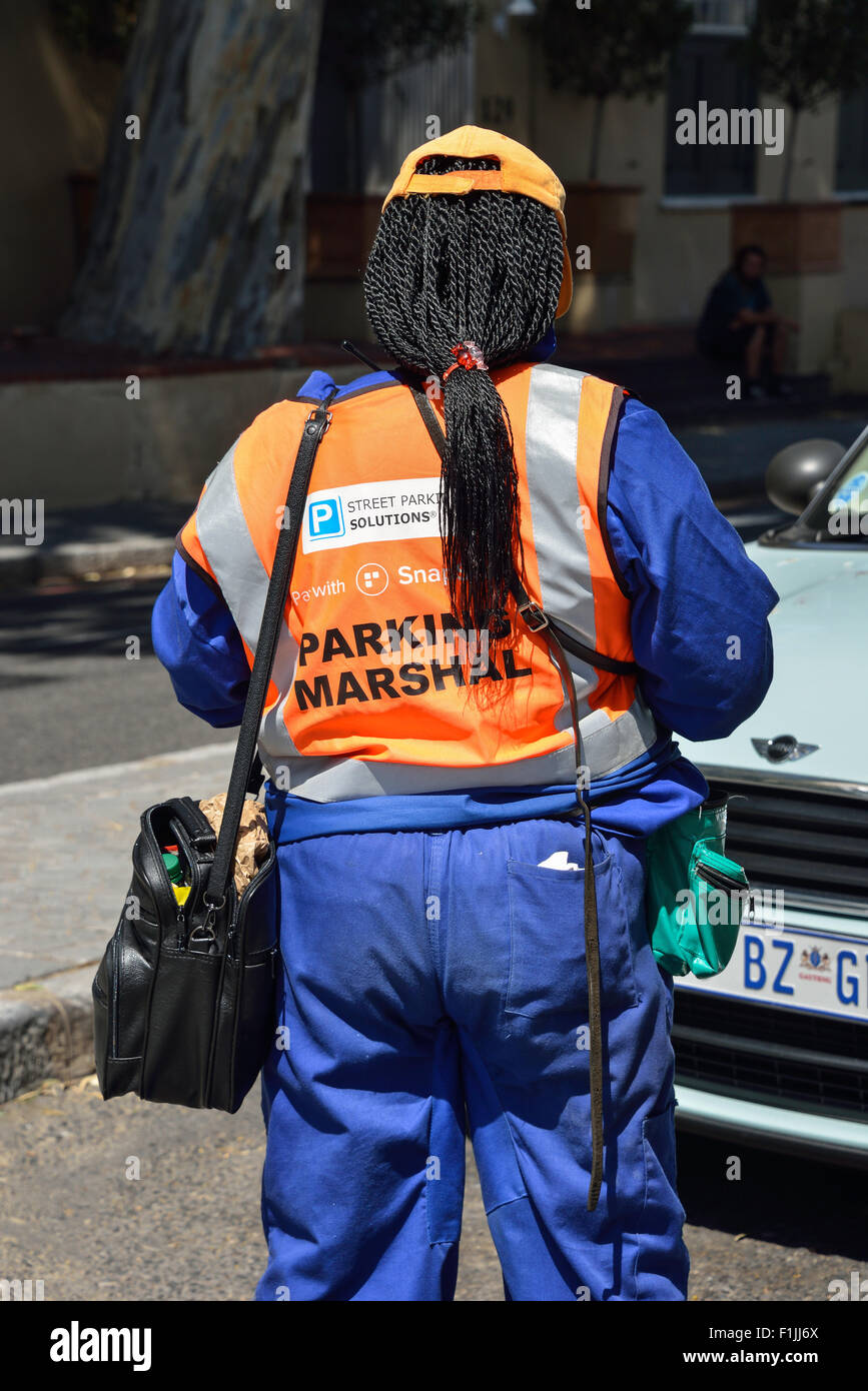 Female Parking Marshall, Buitengracht Street, CBD, Cape Town, Western Cape Province, Republic of South Africa - Stock Image