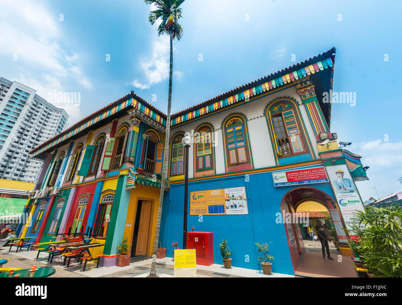 Ancient Chinese Villa, the house of Tan Teng Niah, Indian district of Little India, Singapore - Stock Image