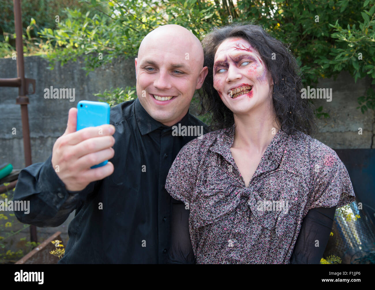 But first let me take a selfie, funny scene on the set of