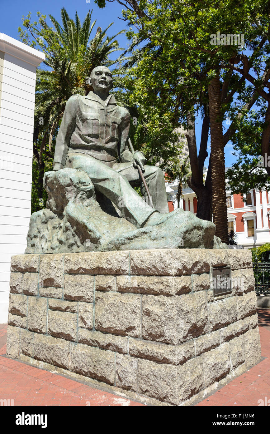 Field Marshal Jan.C.Smuts statue, Government Avenue, Cape Town, Western Cape Province, Republic of South Africa - Stock Image