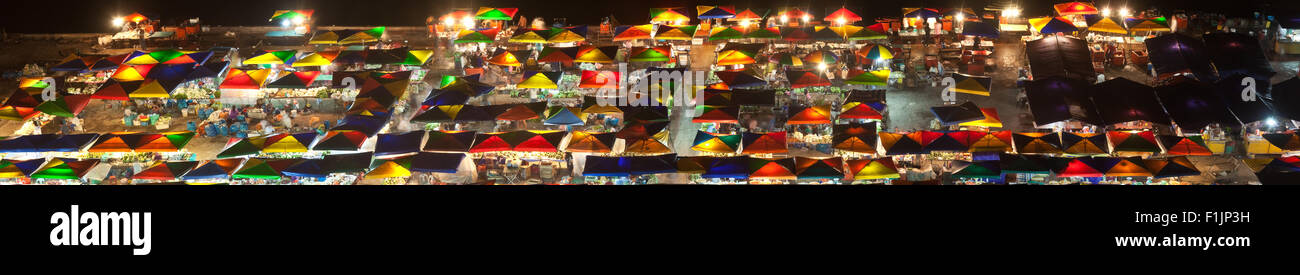 Night market at Kota Kinabalu, Malaysia - Stock Image