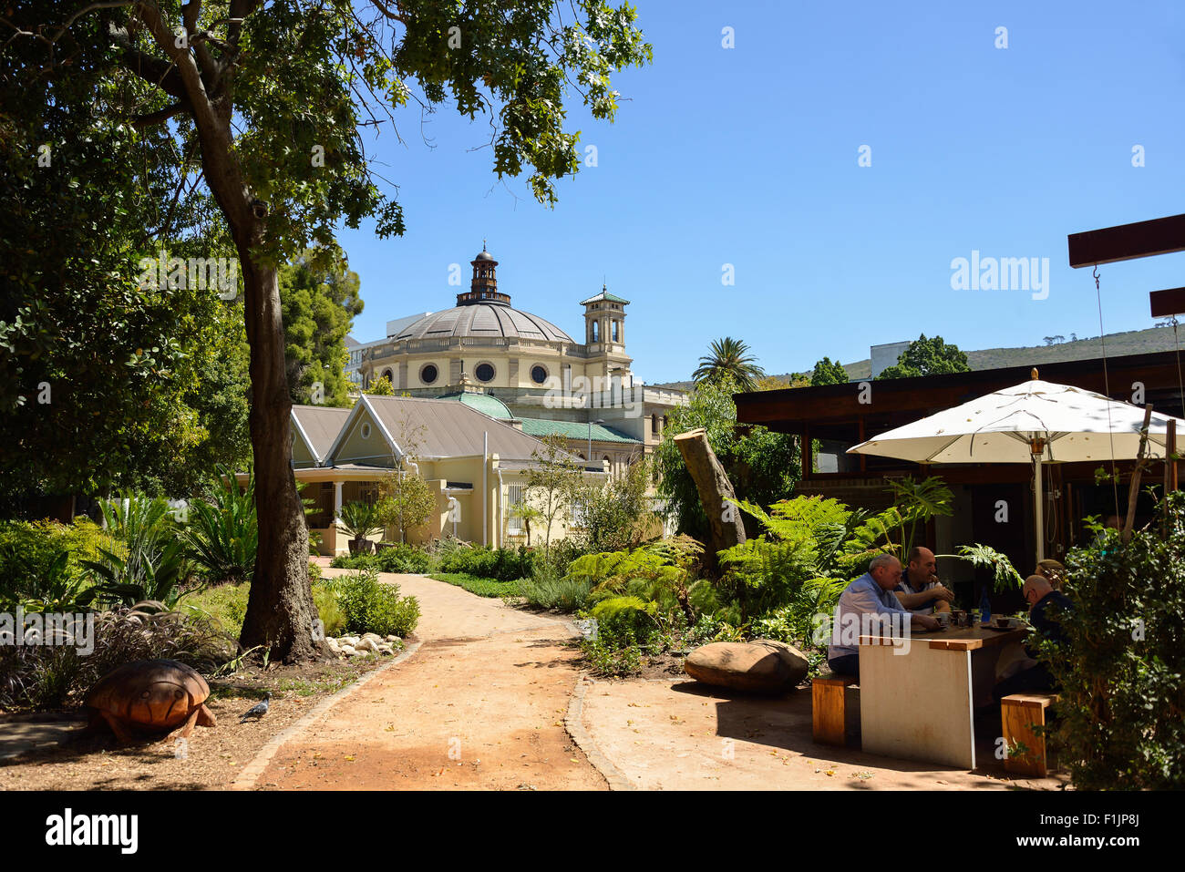 Centre for the Book and restaurant, The Public Garden, Cape Town, Western Cape Province, Republic of South Africa - Stock Image