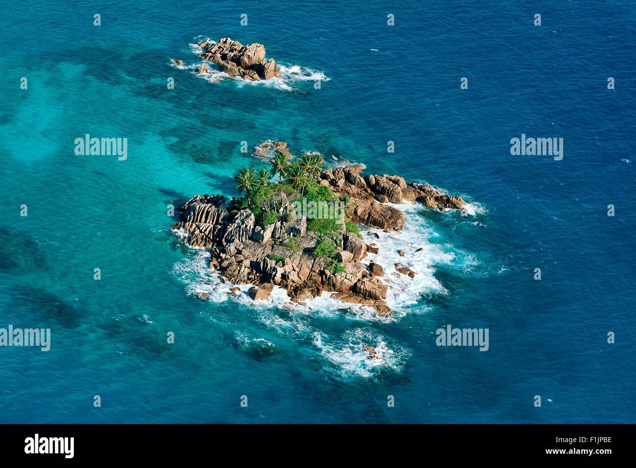 Island Seychelles, Africa - Stock Image