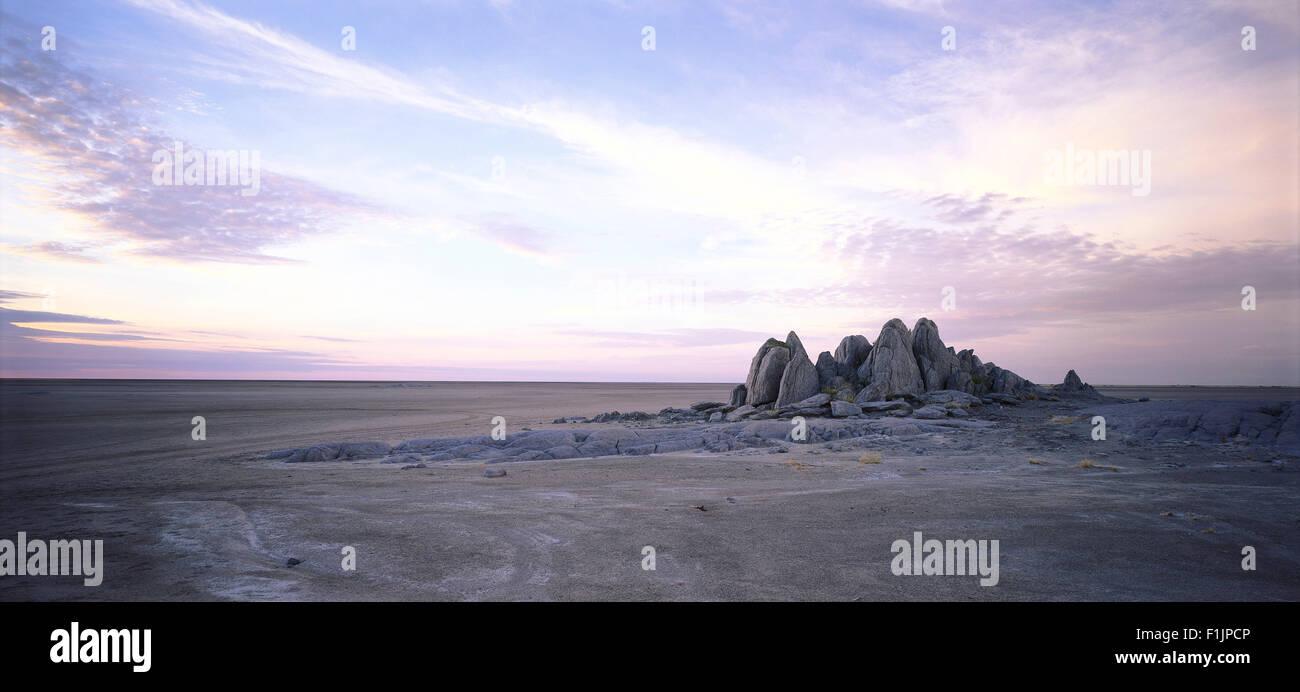Kubu Island Makgadikgadi Pans, Botswana, Africa - Stock Image