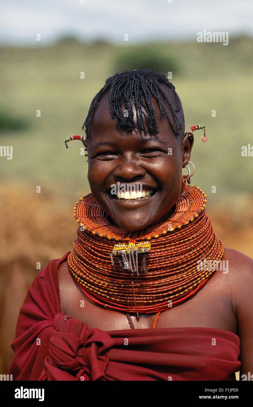 Portrait of Woman, Botswana, Africa - Stock Image