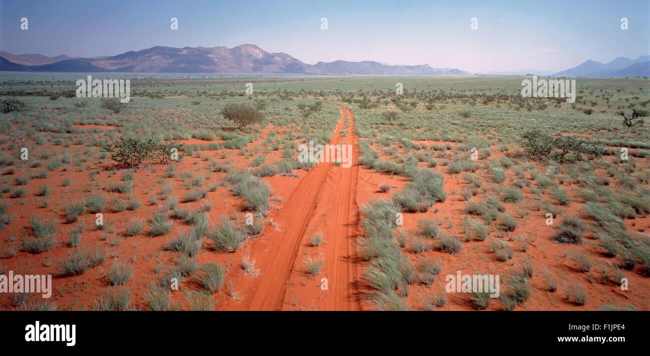 Road Kaokoland Region, Namibia, Africa - Stock Image
