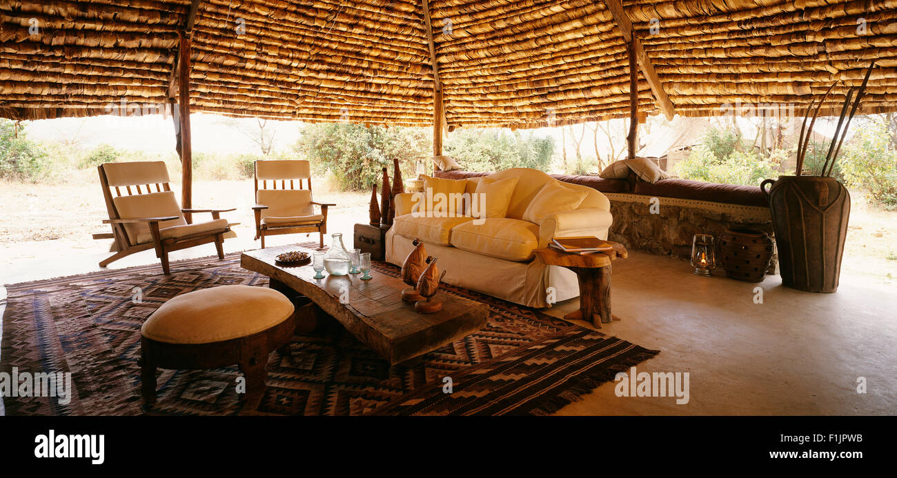 Lake Manyara Tree Lodge, United Republic of Tanzania, Africa - Stock Image