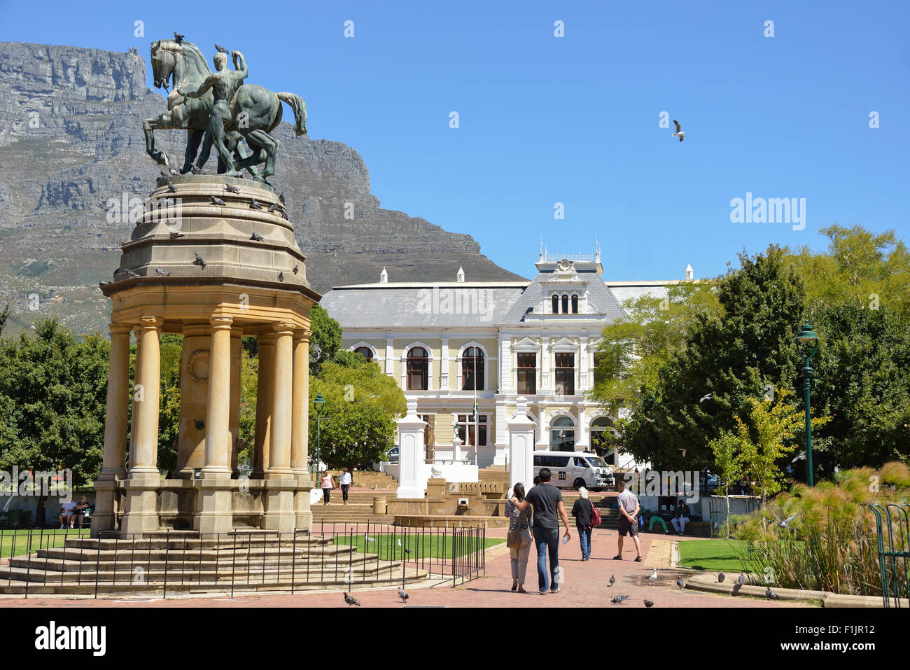 Delville Wood Memorial and Iziko SA Museum, The Company's Garden, Cape Town, Western Cape Province, Republic - Stock Image