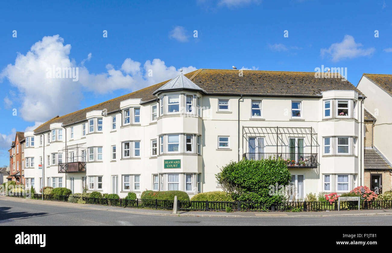 Seaward Court retirement apartments in West Street, Bognor Regis, West Sussex, England, UK. - Stock Image