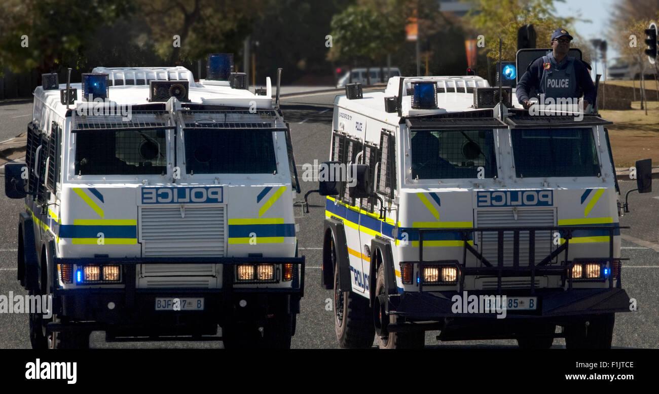 Police-readiness demonstration Johannesburg, Gauteng - Stock Image