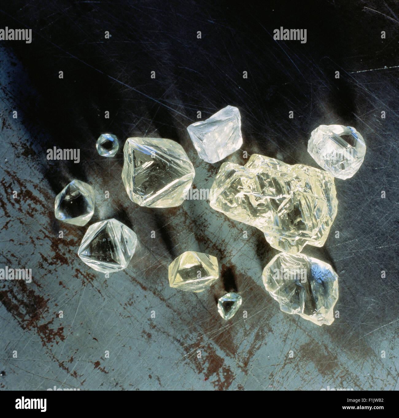 Uncut Diamonds - Stock Image
