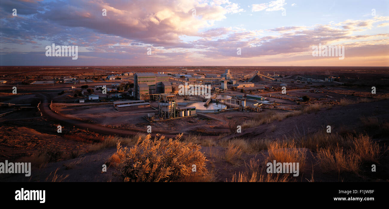 Arial view of factory, Venetia Diamond mine, Limpopo Province, South Africa - Stock Image