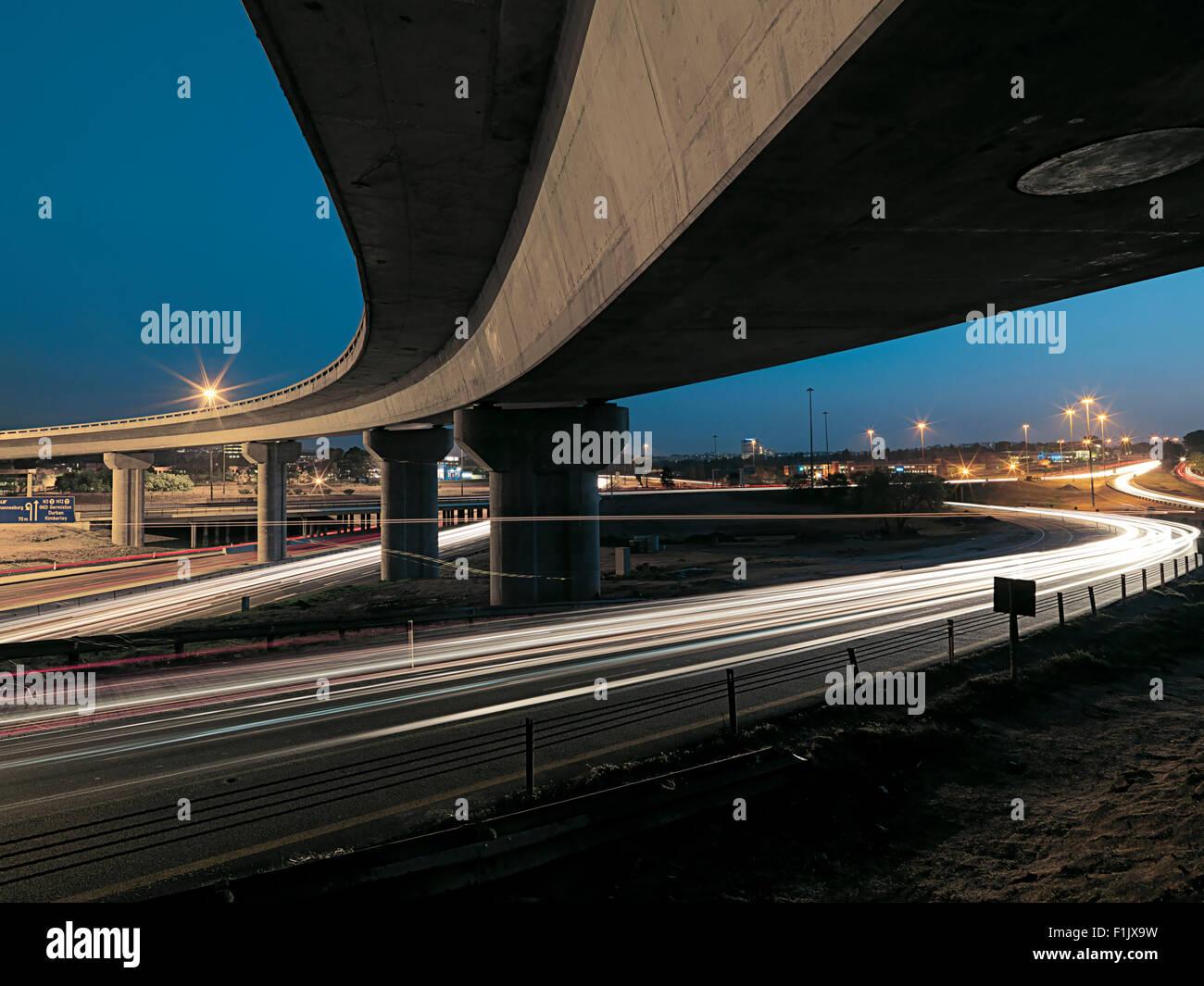 Gillooly's interchange flyover bridge, Johannesburg - Stock Image
