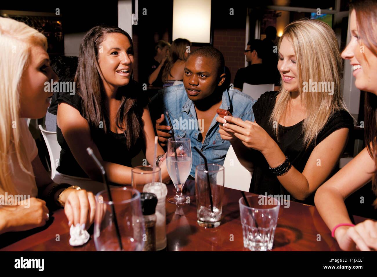 Bar Patrons, Taco Zulu, Morningside - Stock Image