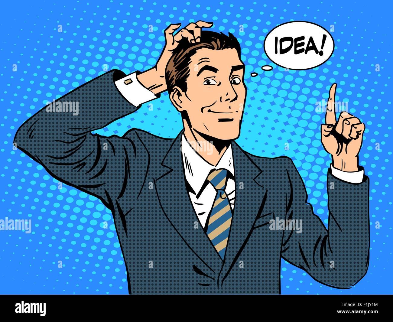 Creative business people businessman idea - Stock Vector