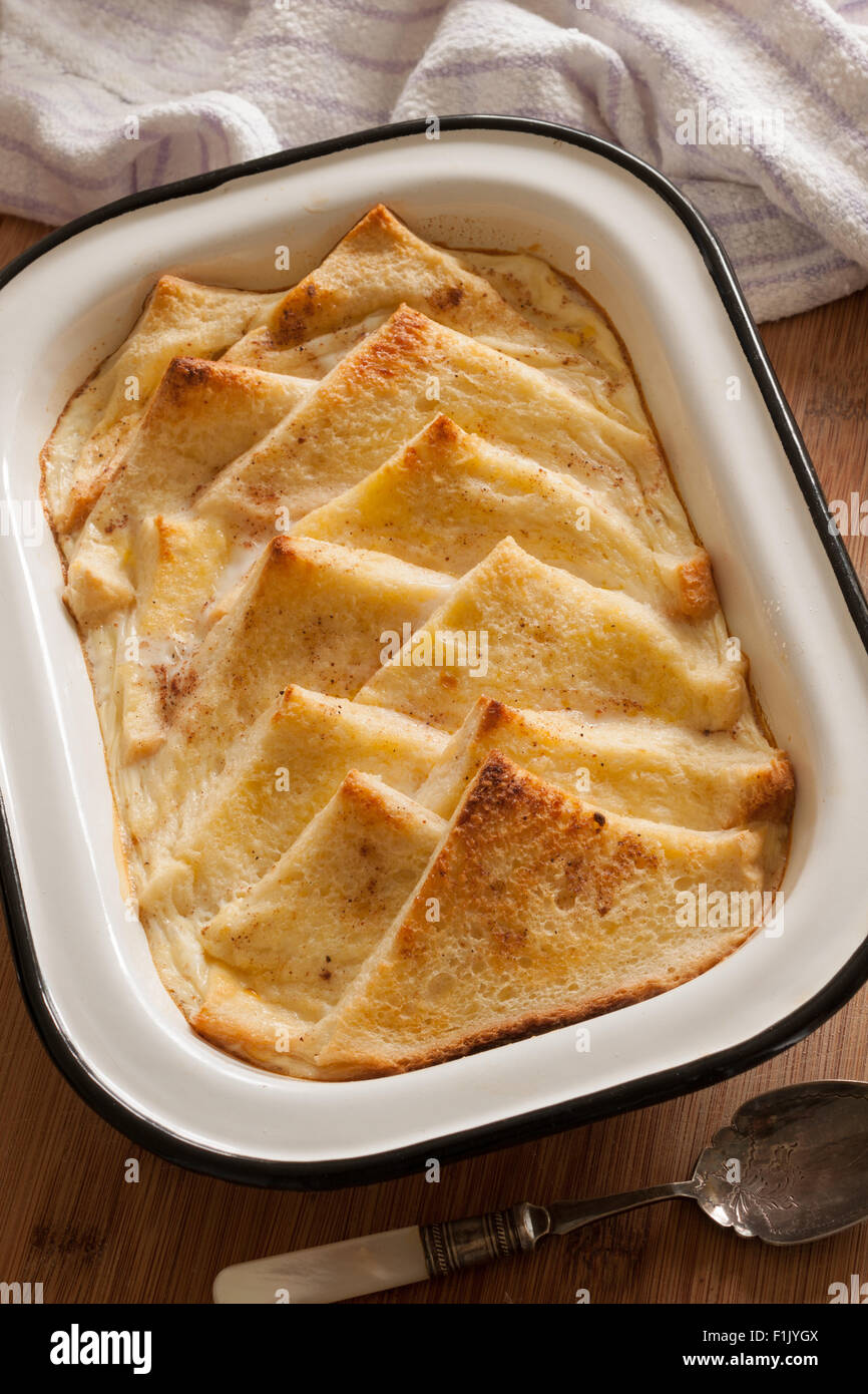 Bread and Butter Pudding an old fashioned British dessert