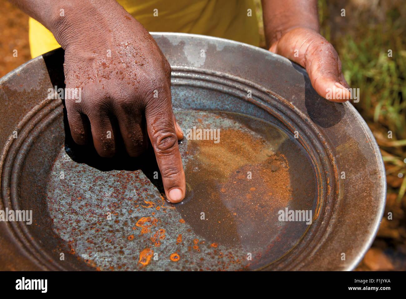 Gold Panning - Stock Image