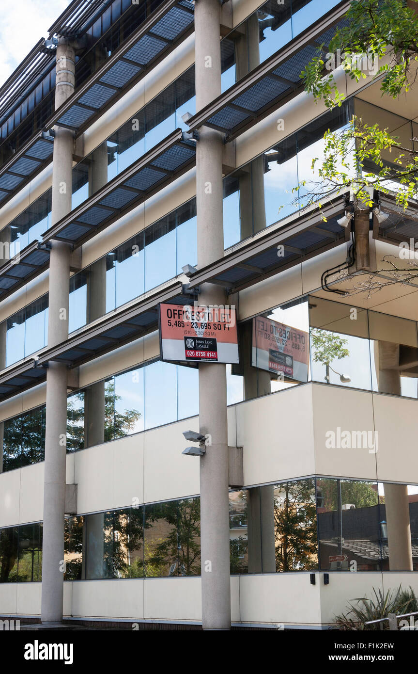 Offices to let in Victoria Gate building in town centre, Chobham Road, Woking, Surrey, England, United Kingdom - Stock Image