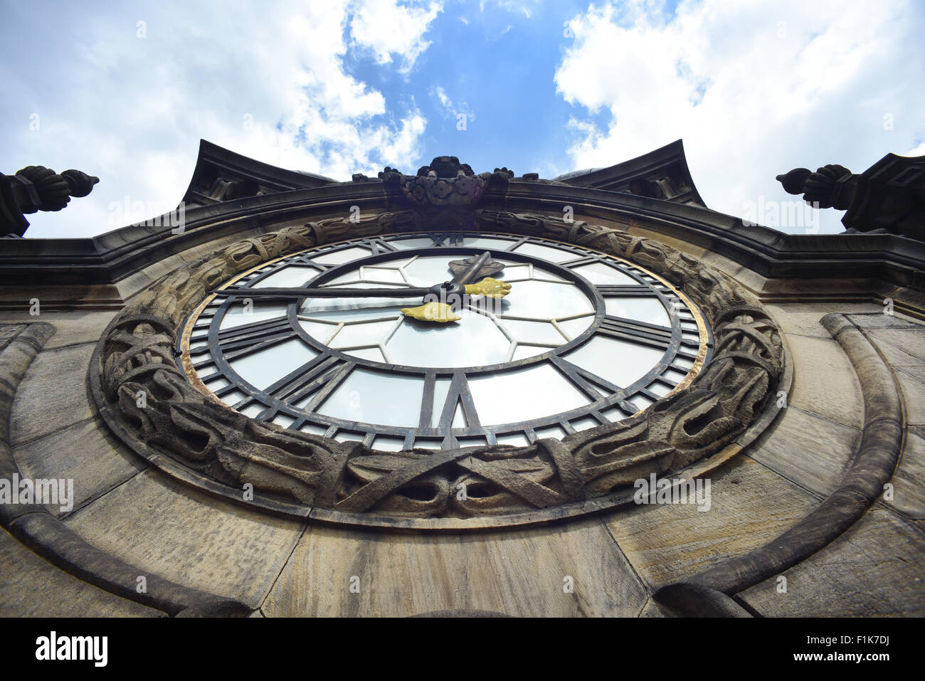 leeds town hall clock face designed by edward beckett denison leeds yorkshire united kingdom - Stock Image