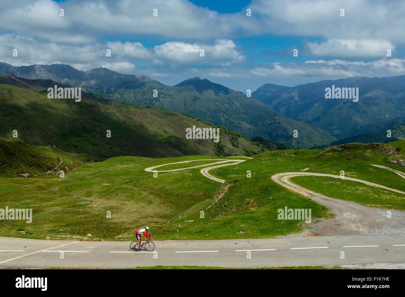 Col de l Aubisque, national park of Pyrenees, Hautes Pyrenees, France Stock Photo