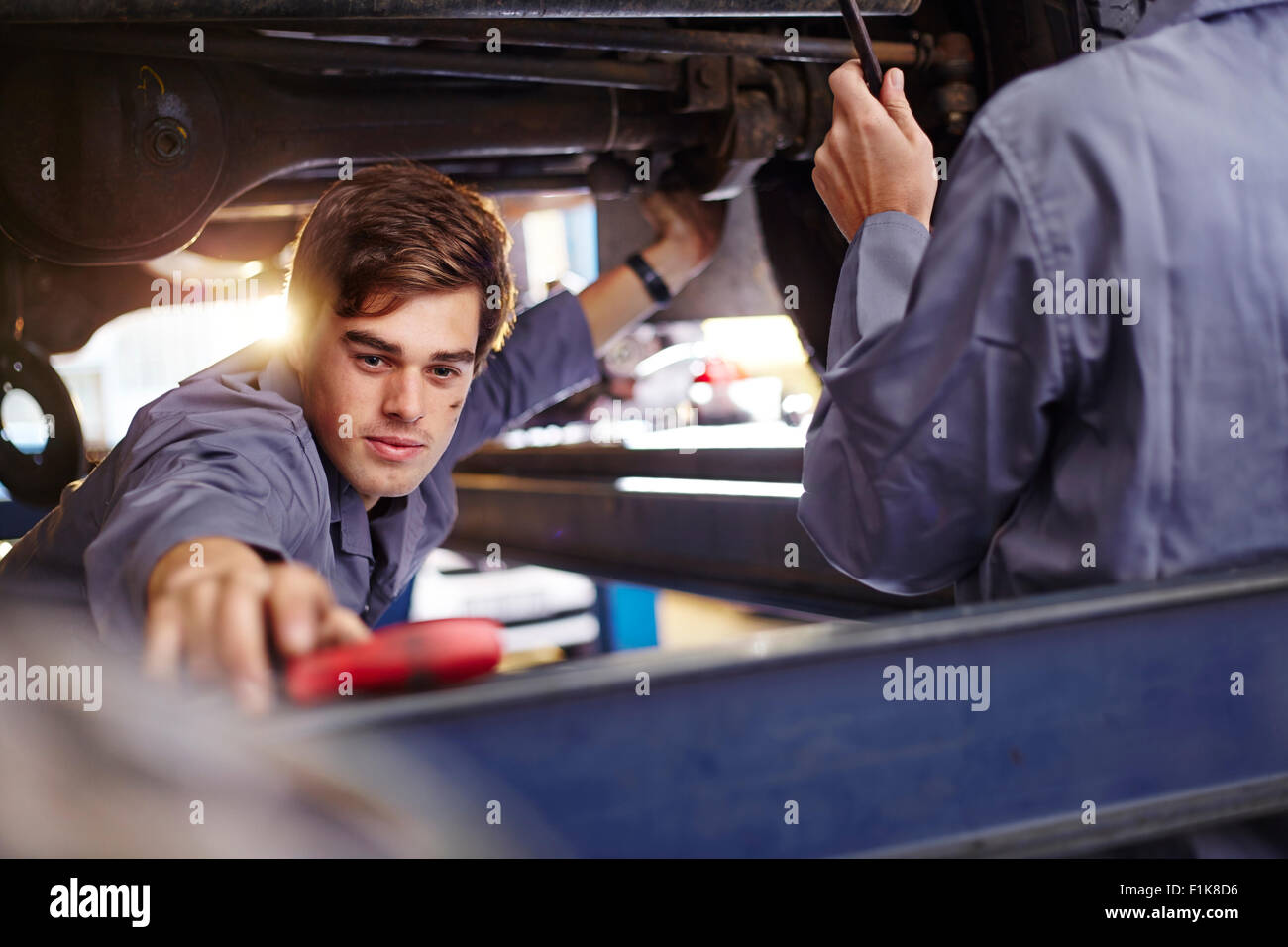 Tool Shop Stock Photos Images Alamy Engineer Repairing Circuit Board Royalty Free Photo Image Mechanic Reaching For In Auto Repair