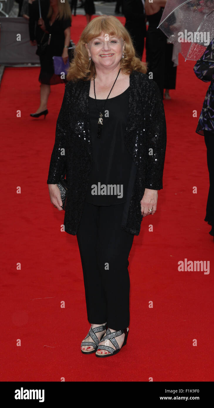London, UK, 11th Aug 2015: Lesley Nicol attends the BAFTA tribute to Downton Abbey in London - Stock Image