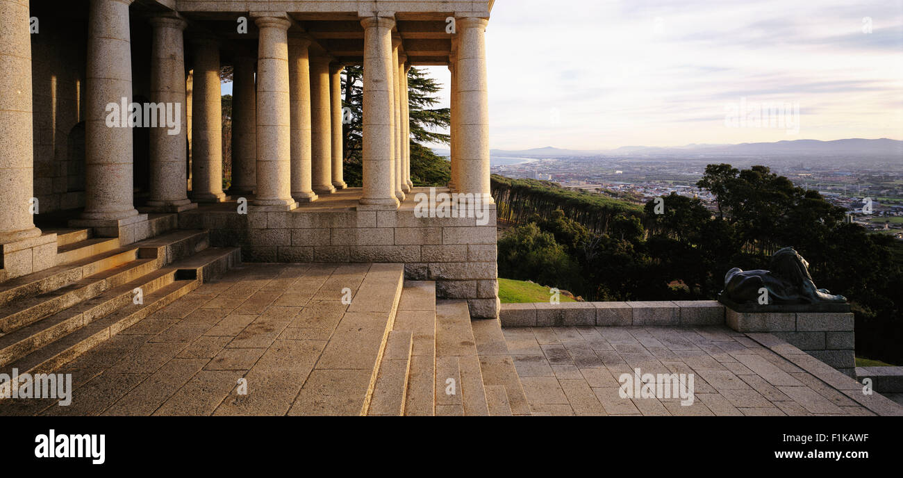 Rhodes Memorial, Table Mountain Western Cape, Cape Town South Africa - Stock Image