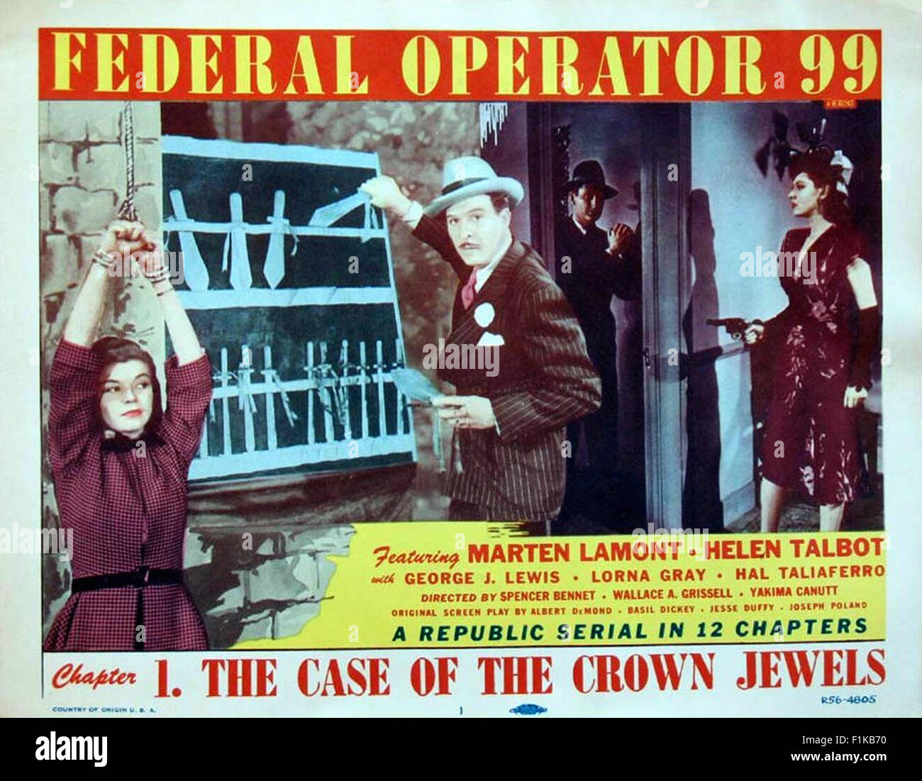 Federal Operator 99 001 - Movie Poster - Stock Image