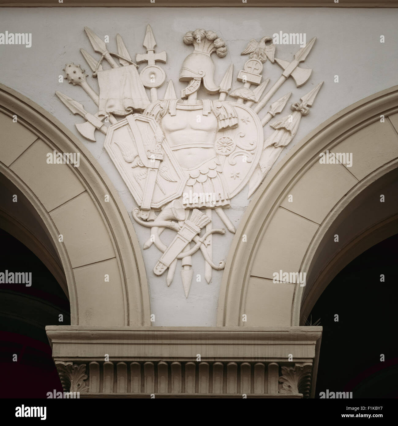 Bas-relief On Wall Of Royal Palace (Det Kongelige Slott) In Oslo, Norway Stock Photo