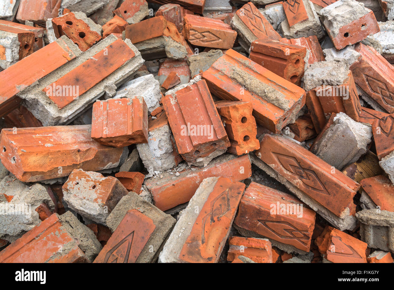 ruin after demolishing construct - Stock Image