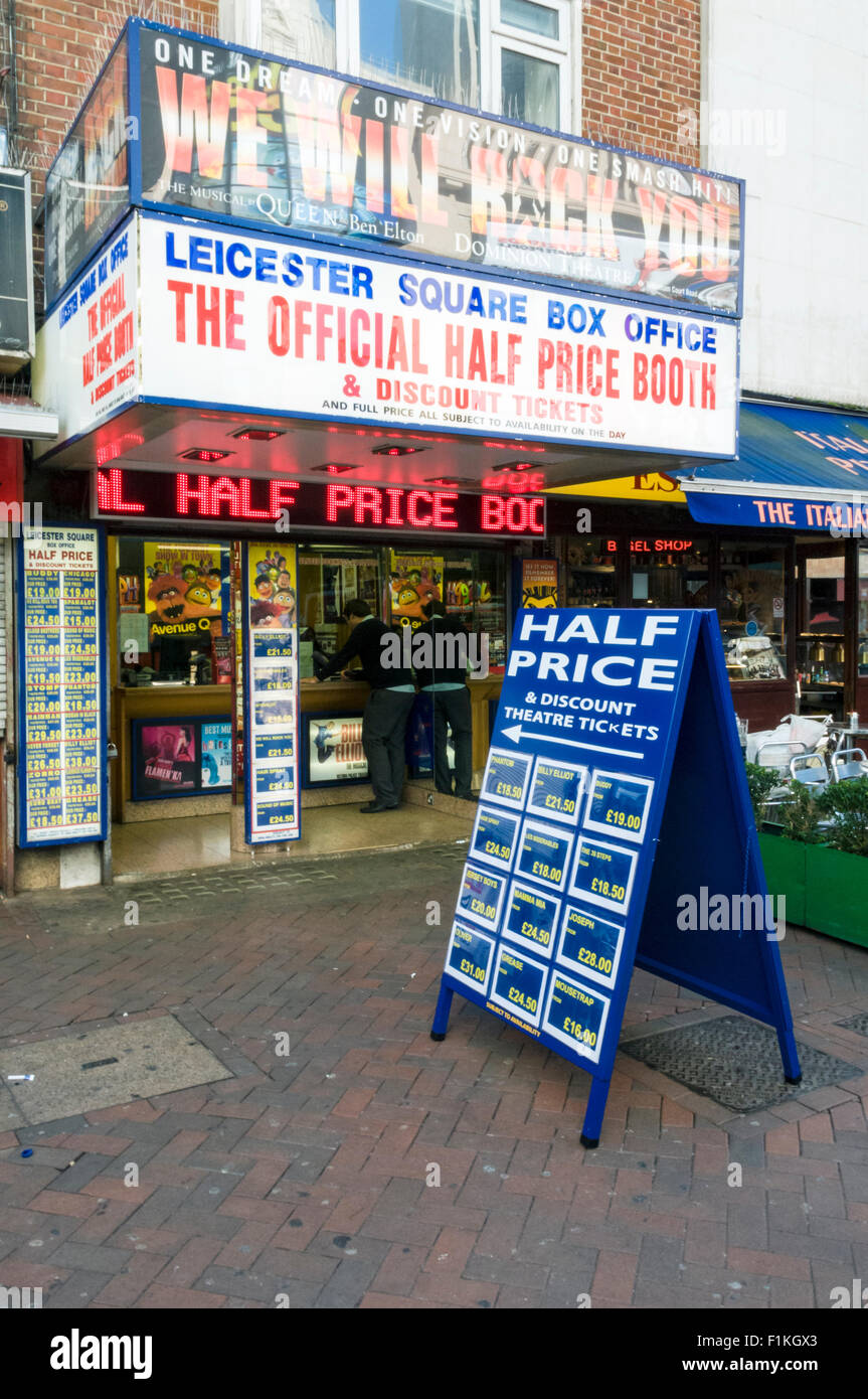 Leicester Square Box Office, London - Stock Image
