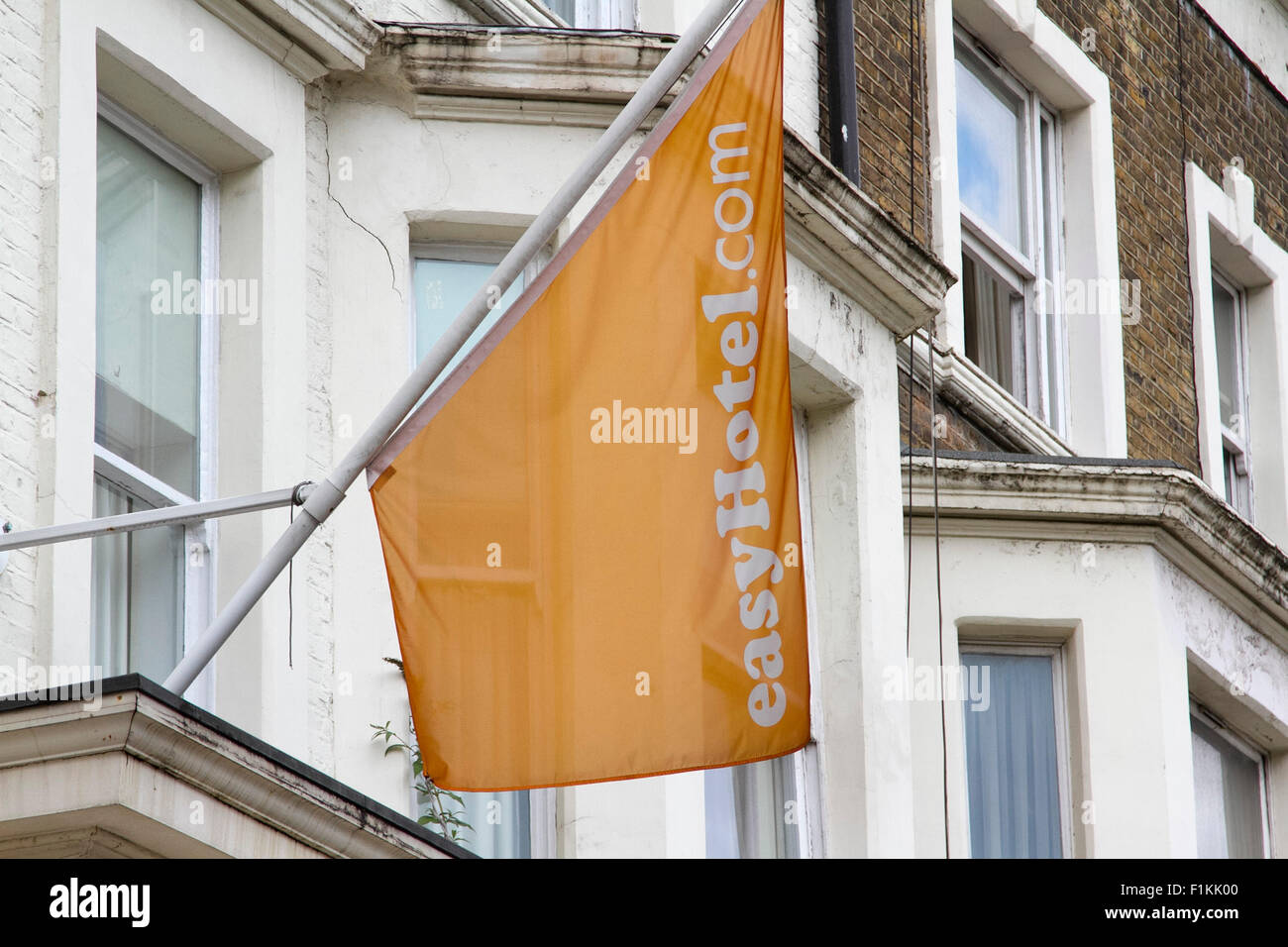 London,UK. 3rd September 2015. Easy hotel part of the Easy Group holdings owned by Sir Stelios Haji-Ioannou. Low - Stock Image
