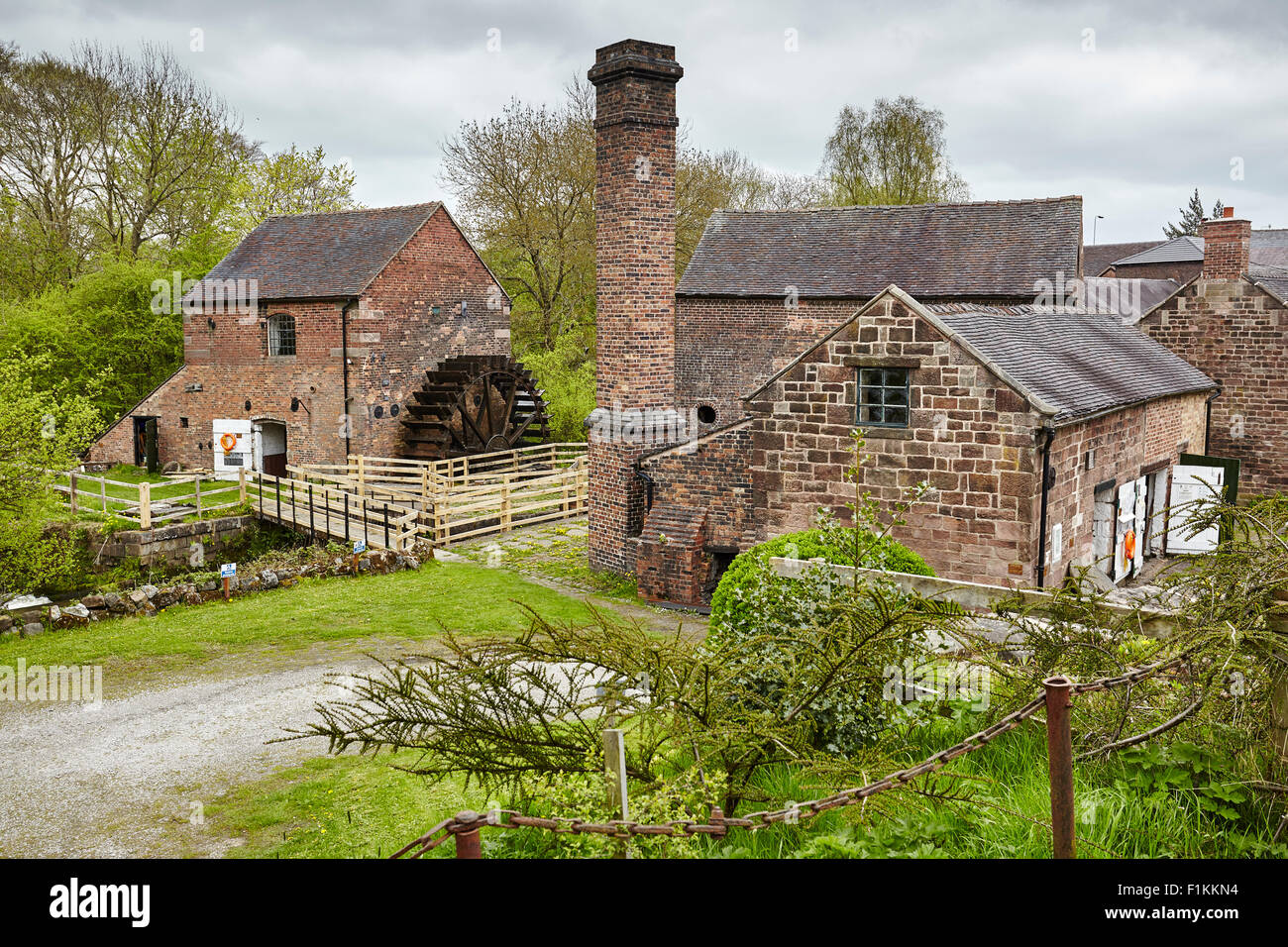 Flint Mill the Caldon Canal - Stock Image