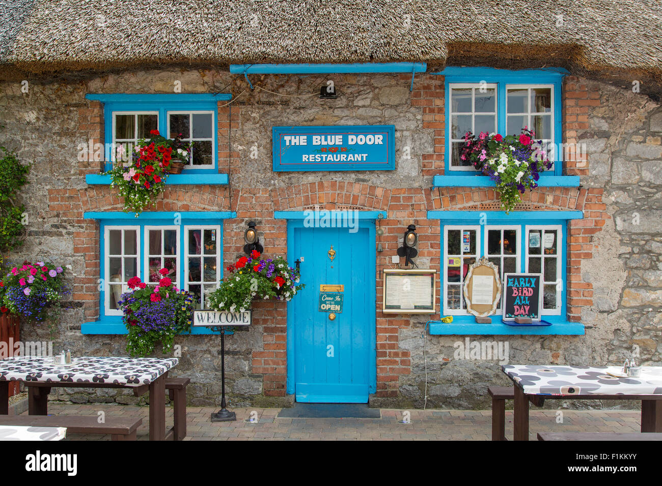 Cottage Cafe in Adare, County Limerick, Republic of Ireland - Stock Image