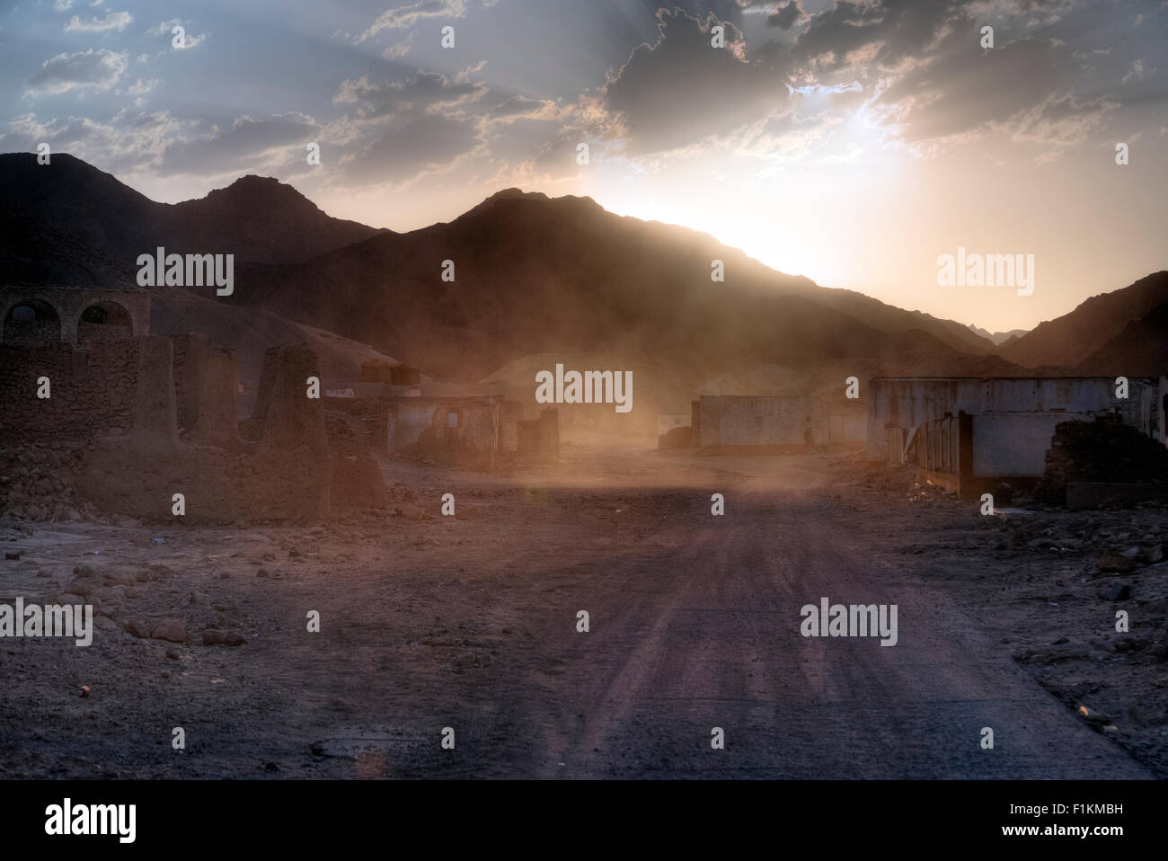 Umm el Howeitat, ghost town, Safaga, Egypt, Africa - Stock Image