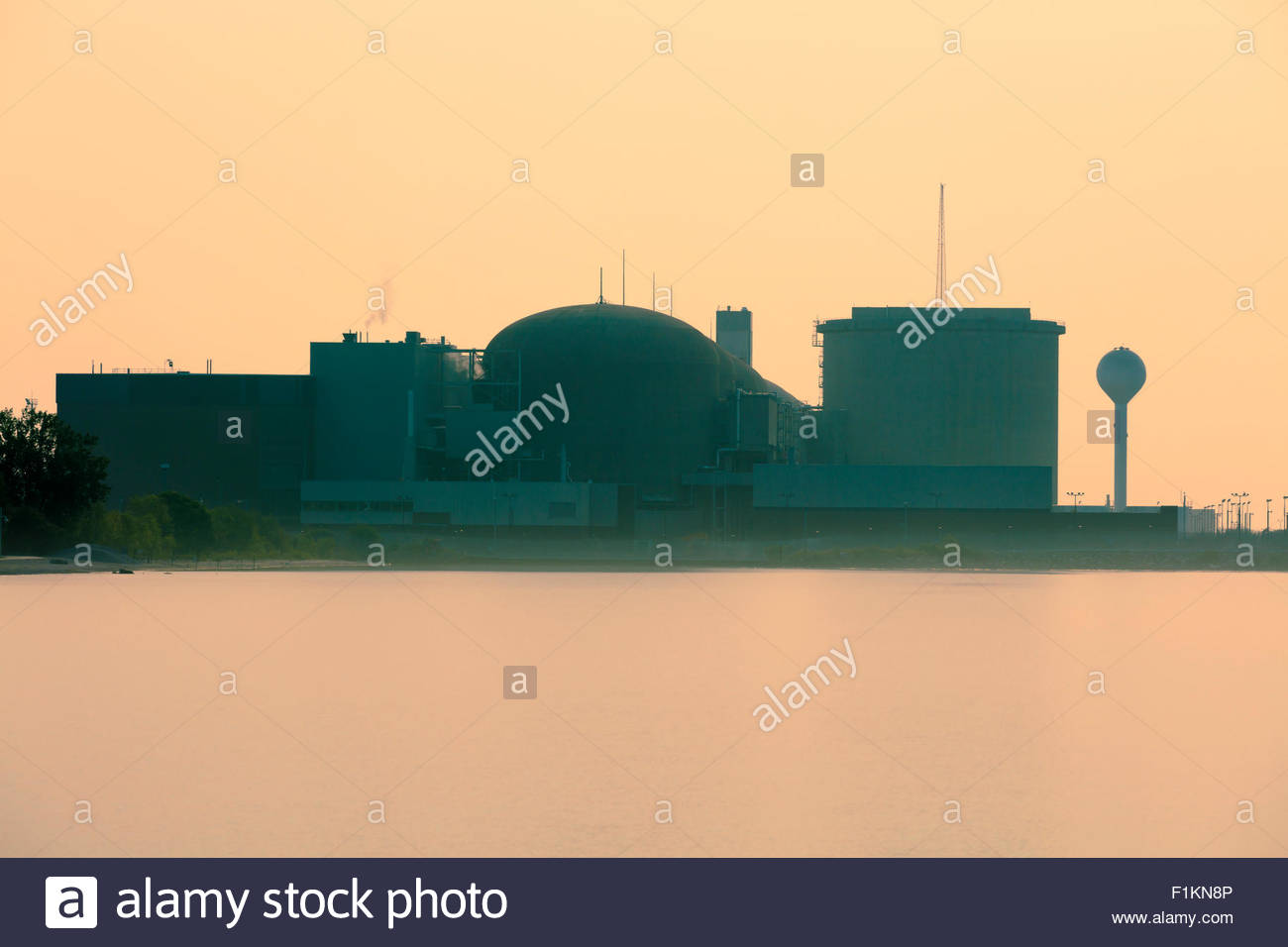 Candu nuclear electric power station at Pickering Ontario Canada - Stock Image
