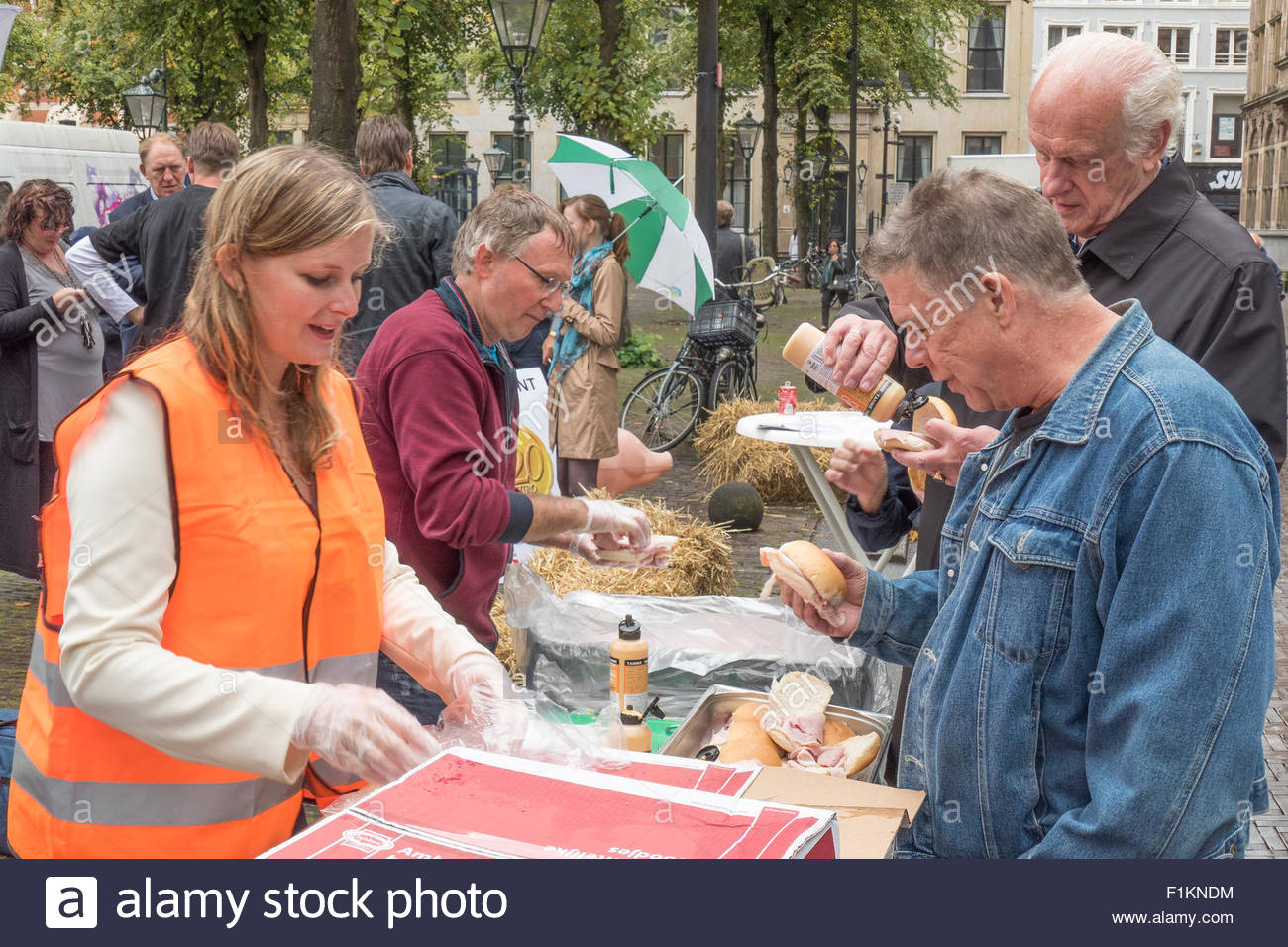 Pig farmers protest. - Stock Image