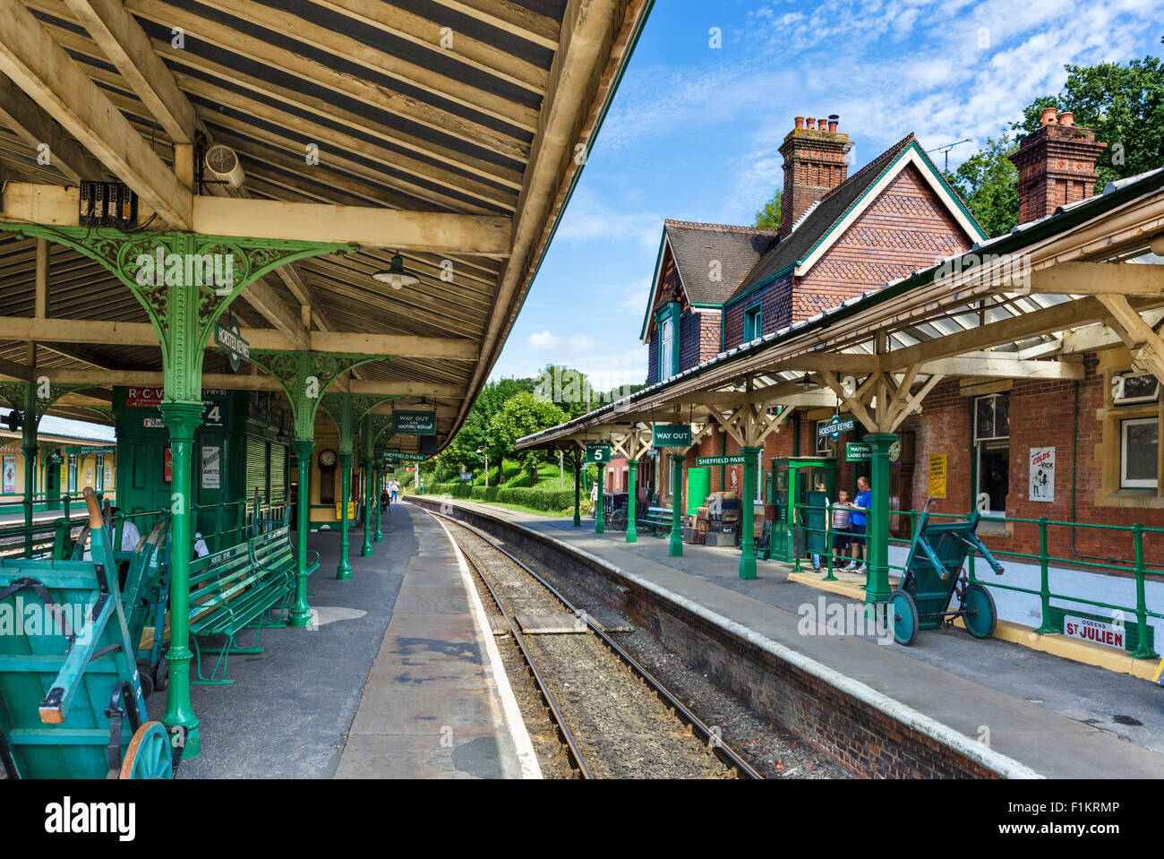 Horsted Keynes Railway Station on the Bluebell Railway line