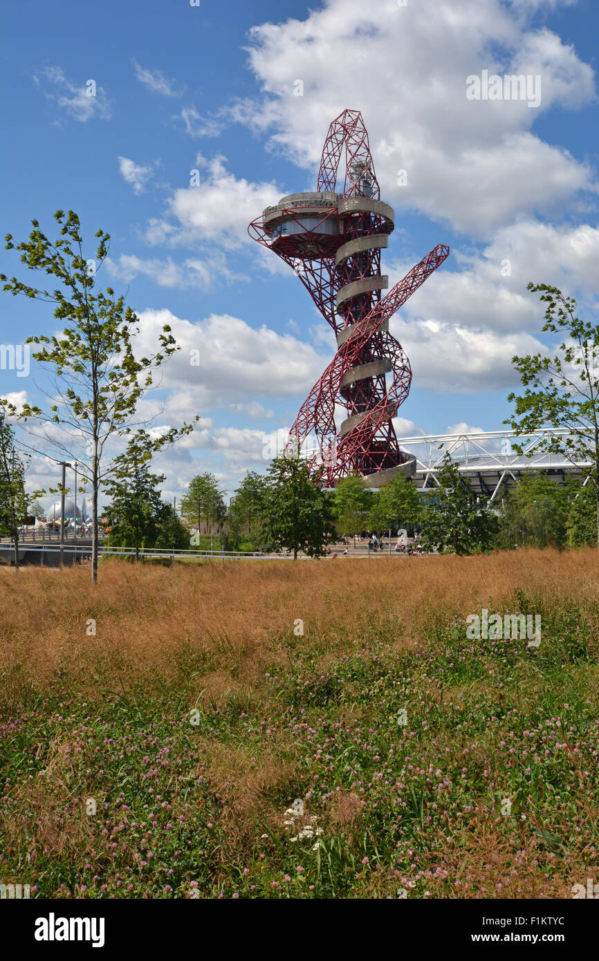 ArcelorMittal Orbit, Queen Elizabeth Olympic Park, Stratford, London - Stock Image