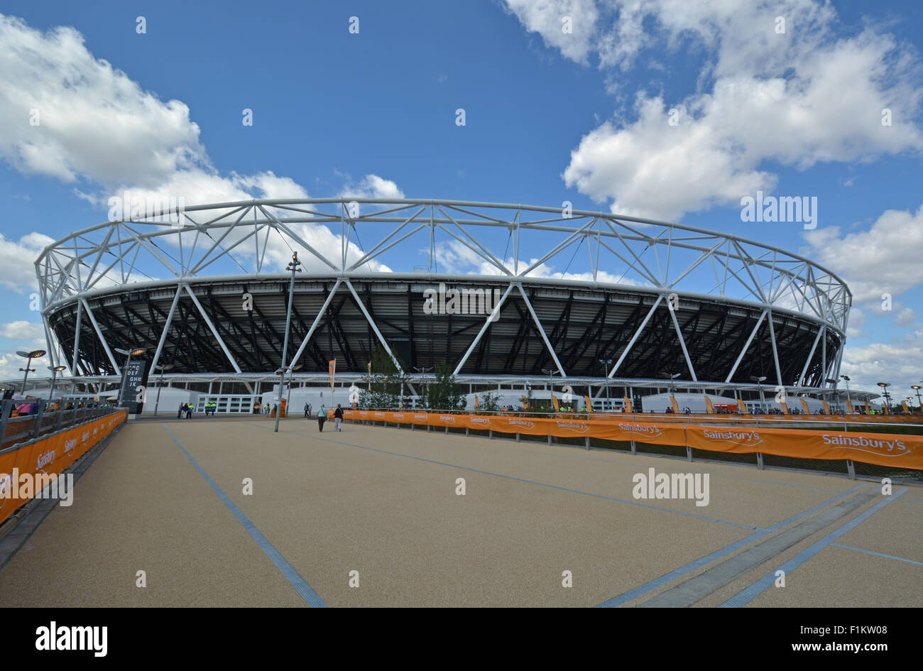 Sainsbury's Anniversary Games at the Queen Elizabeth Olympic Stadium, Stratford, London - Stock Image