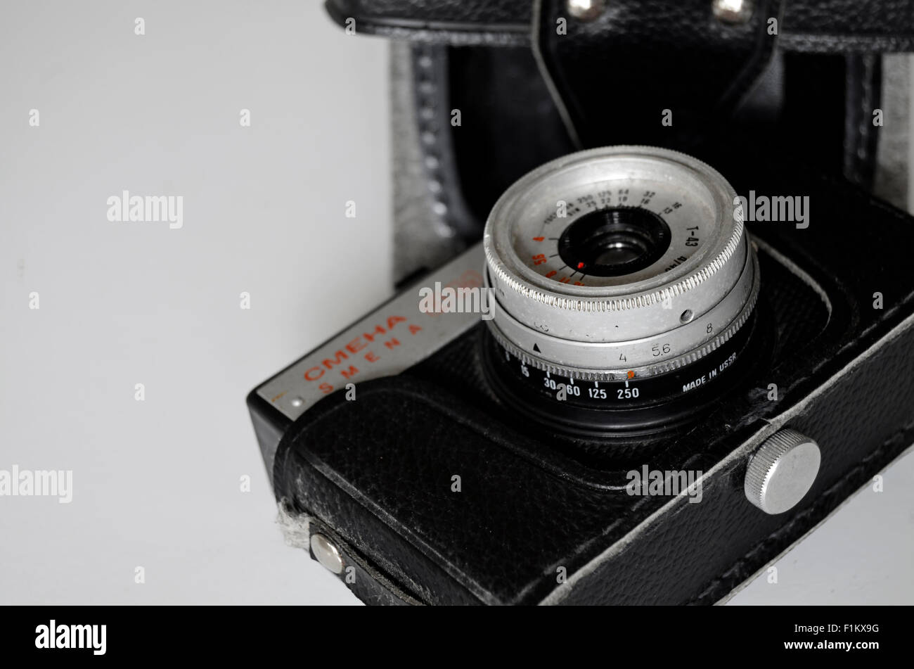 Camera 'CMEHA' made in CCCP - Stock Image