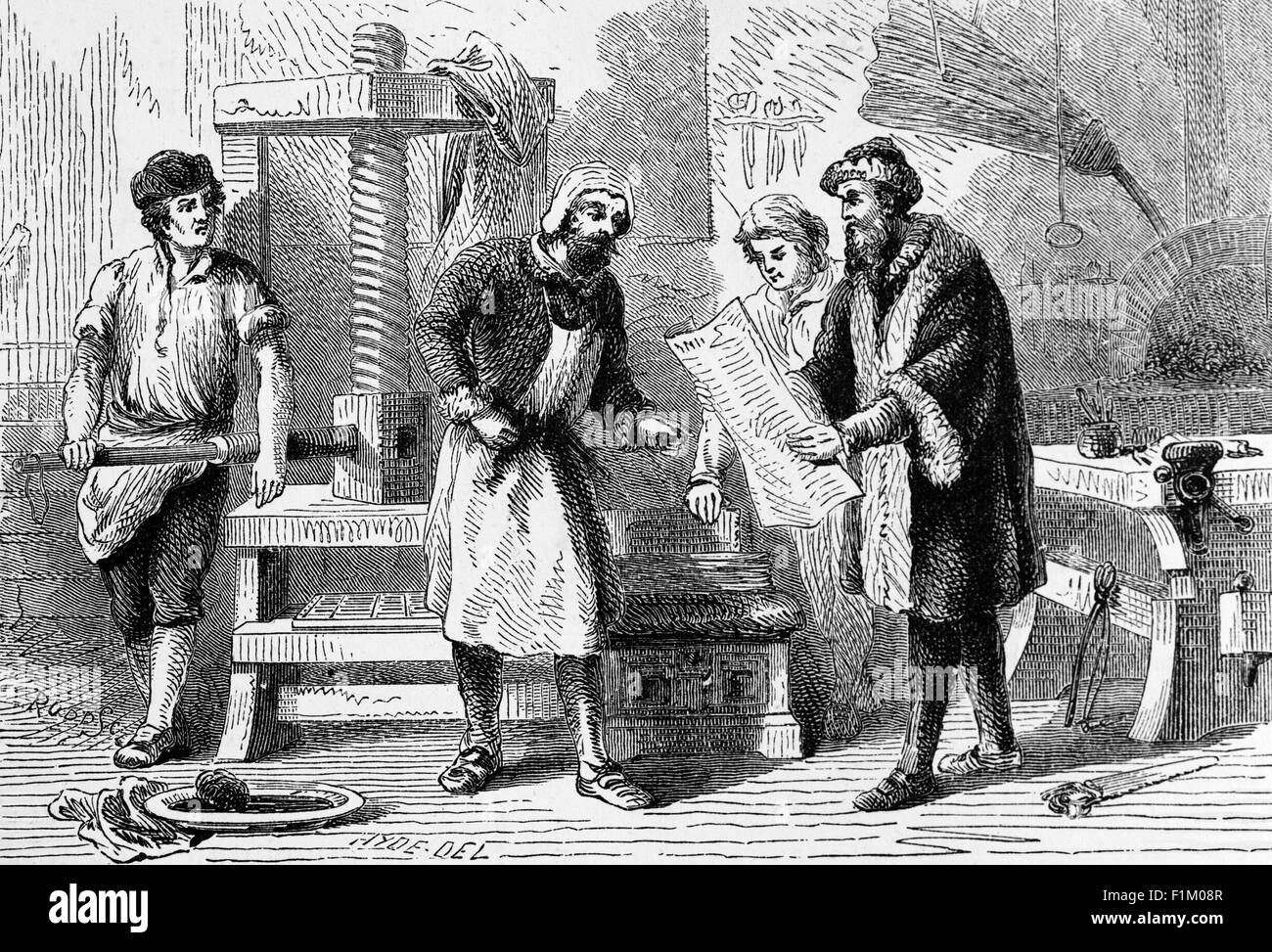 Johannes Gutenberg Printing PressStock Photos and Images