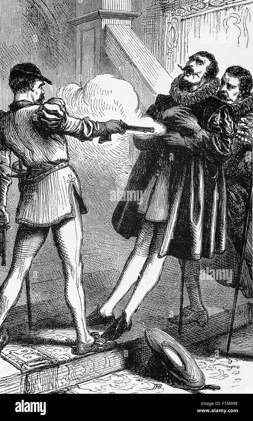 The Murder of William of Orange by Balthasar Gérard in Delft, July 1584