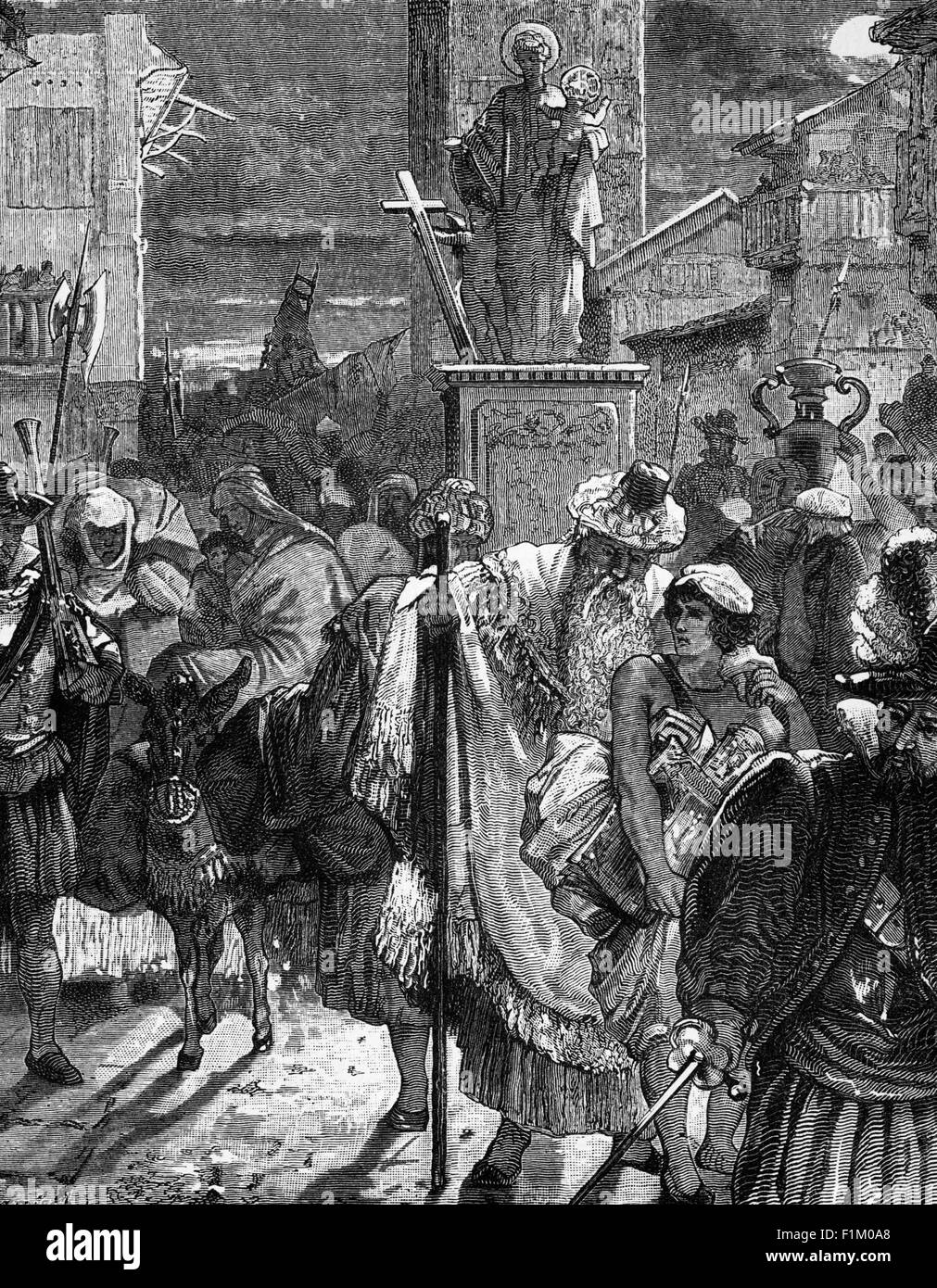 The Expulsion of the Islamic Moors from Spain in 1609 - 1610. - Stock Image