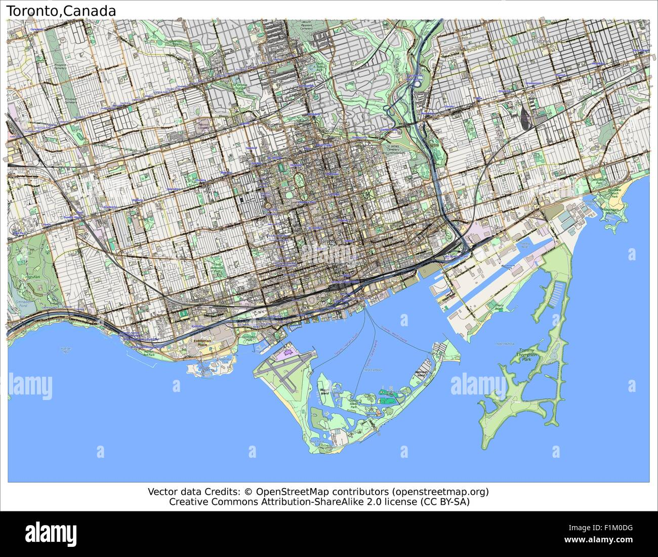 Toronto Canada map aerial view Stock Vector Art ...
