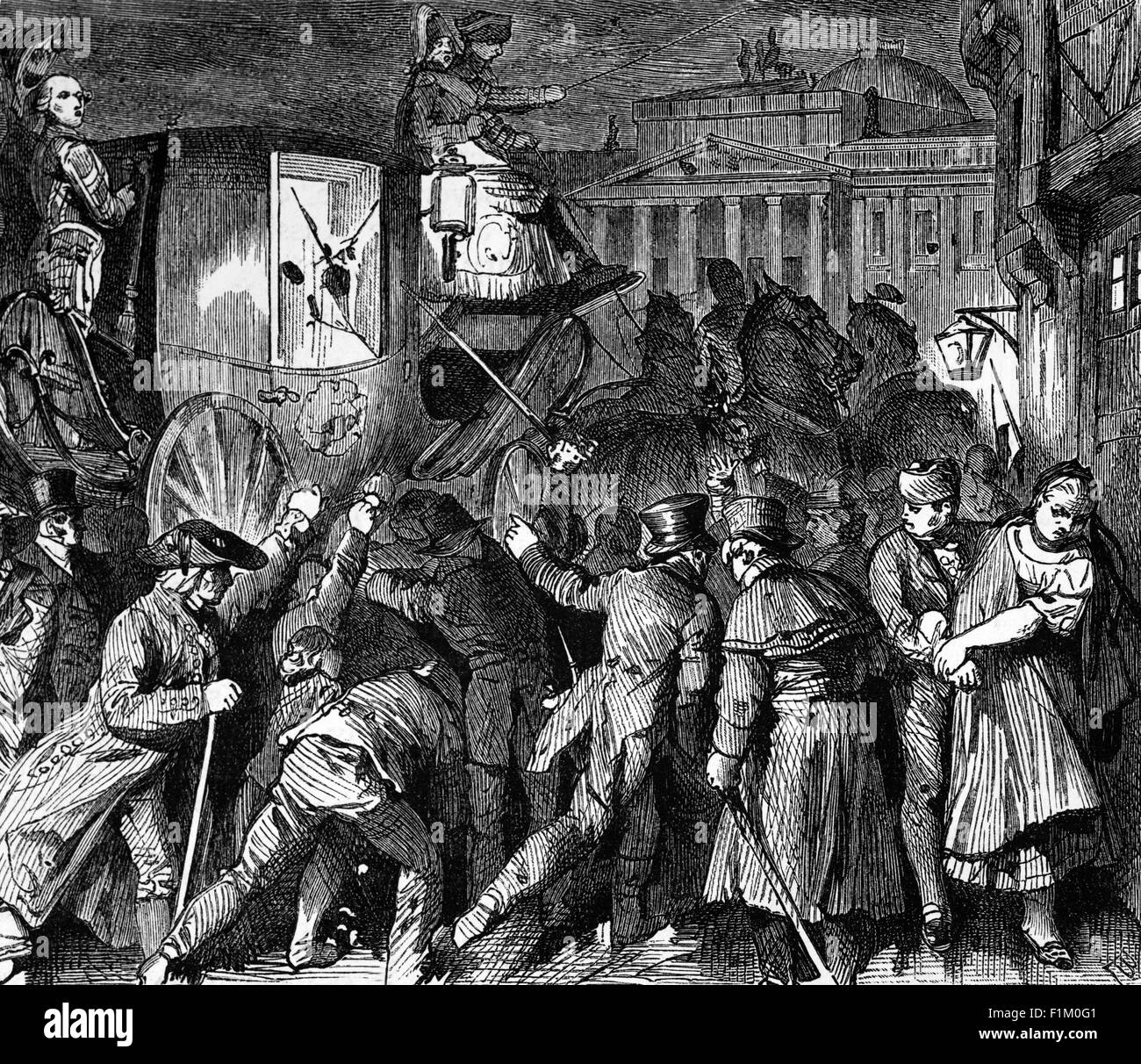 Revolutionary riots in the German states. They were part of the Revolutions of 1848 that broke out in many countries - Stock Image