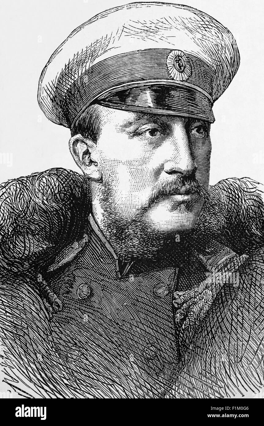 The Grand Duke Constantine,(9 September 1827 – 13 January 1892, second son of Tsar Nicholas I of Russia, And admiral - Stock Image
