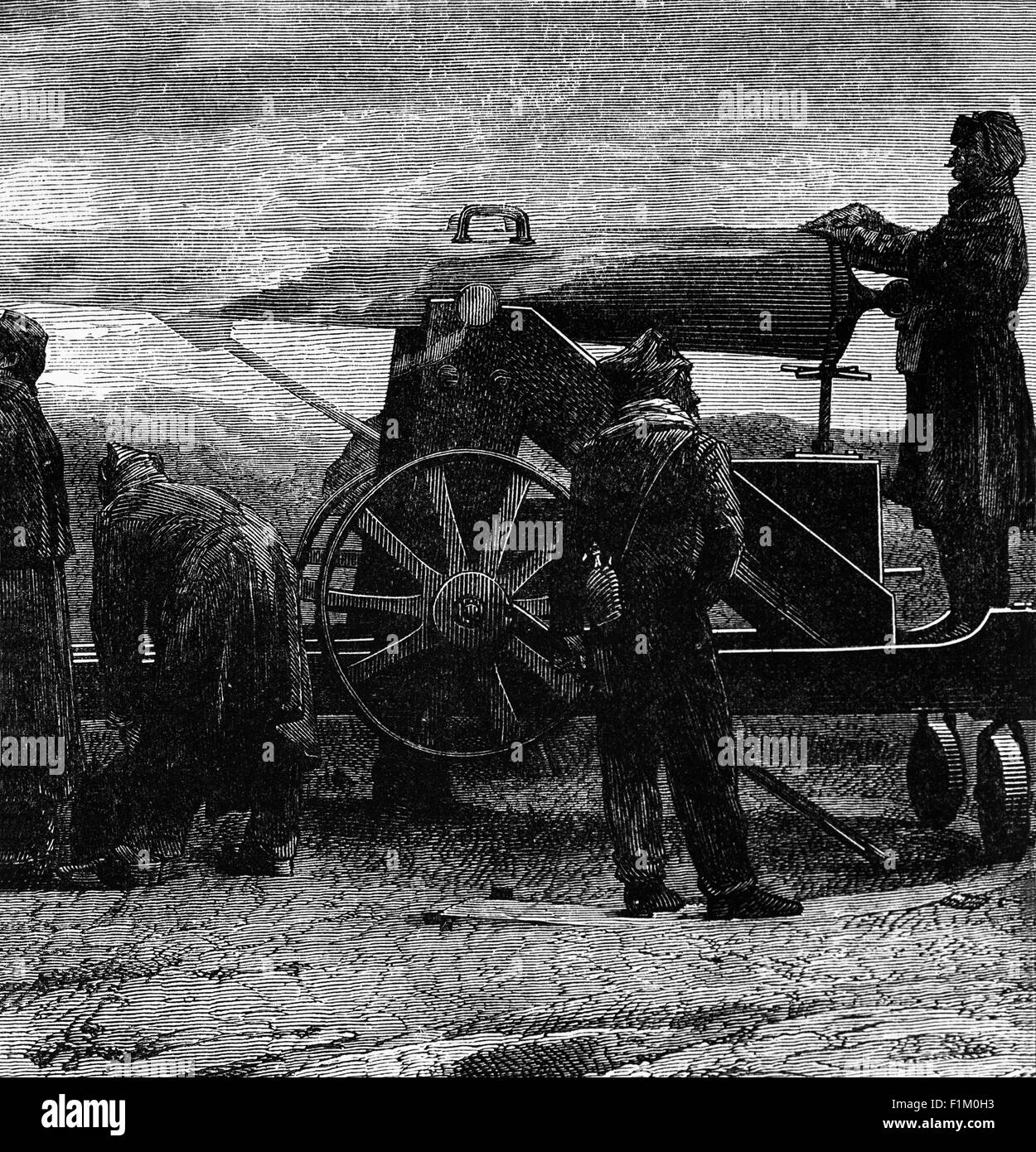 Large Cannon used during the Franco-Prussian War of 1870-1871. - Stock Image